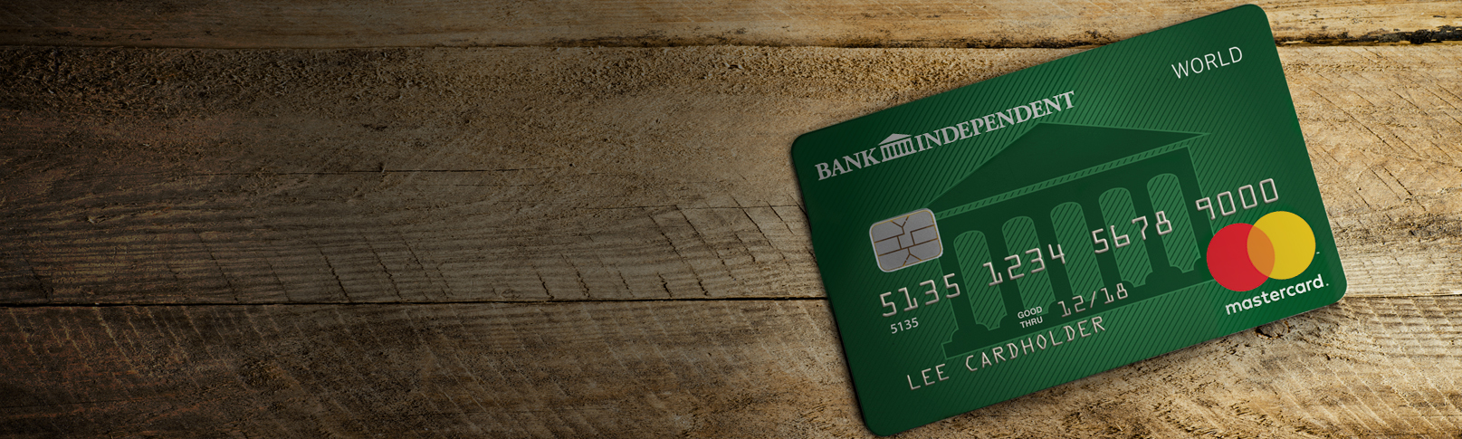 Image of Personal Credit Card on a wood background
