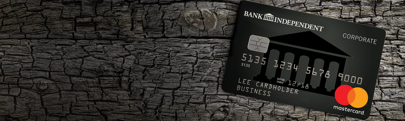 Image of Business Credit Card on wood background