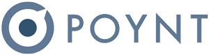 Logo for the poynt POS system.