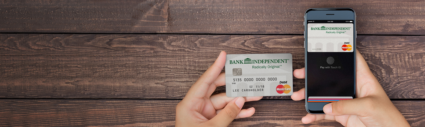 Bank Independent | Personal Debit Cards For Payment Convenience